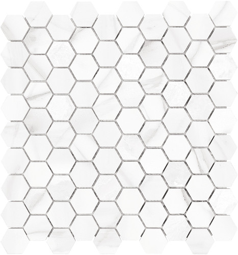 Mayfair Volakas Grigio 1.25x1.25 HD Hexagon Polished Porcelain Mosaics (69-924)