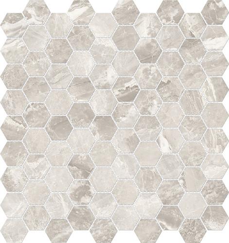 Mayfair Stella Argento 1.25x1.25 HD Hexagon Polished Porcelain Mosaics (69-925)
