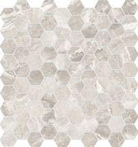 Mayfair Stella Argento 1.25x1.25 HD Hexagon Polished Porcelain Mosaics (69-925)