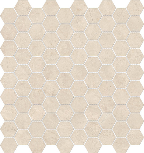 Mayfair Allure Ivory 1.25x1.25 HD Hexagon Polished Porcelain Mosaics (69-926)