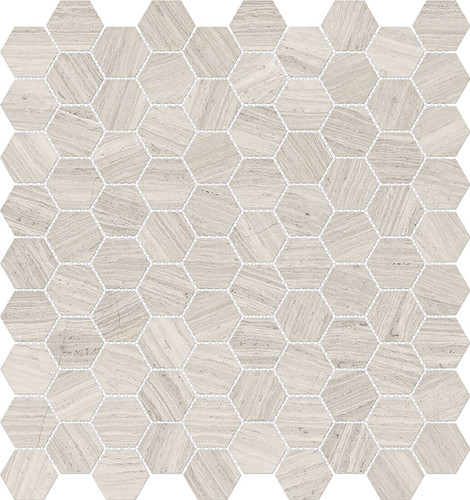 Mayfair Strada Ash 1.25x1.25 HD Hexagon Polished Porcelain Mosaics (69-963)
