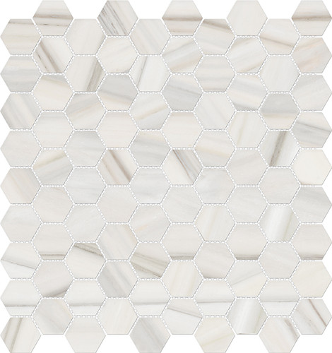 Mayfair Zebrino 1.25x1.25 HD Hexagon Polished Porcelain Mosaics (69-964)