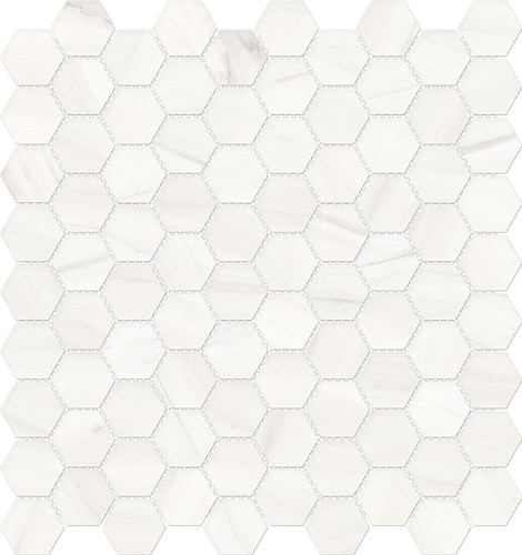 Mayfair Suave Bianco 1.25x1.25 HD Hexagon Polished Porcelain Mosaics (69-965)