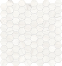 Mayfair Suave Bianco 1.25x1.25 HD Hexagon Polished Porcelain Mosaics (69-965)