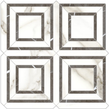 Mayfair Calacatta Oro Piazza HD Polished Porcelain Mosaics (69-969)