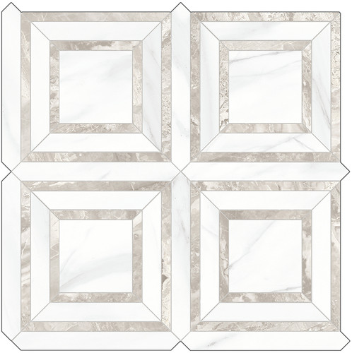 Mayfair Volakas Grigio Piazza HD Polished Porcelain Mosaics (69-971)
