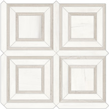 Mayfair Suave Bianco Piazza HD Polished Porcelain Mosaics (69-974)