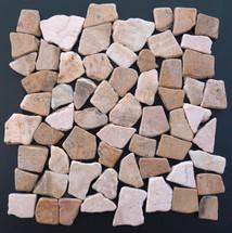 Tumbled Marble Mosaic Island Blend 12x12 Seamless Interlocking (TOETMMISLBLE1212)
