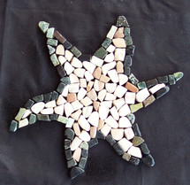 Exotics Ebony Star Fish Sea Creature Mosaic (TOEEBOSTAFISH)