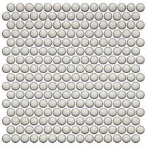 CC Mosaics Plus+ Pearl White Bright Penny Round Mosaic 12x12 (UFCC125-12M)
