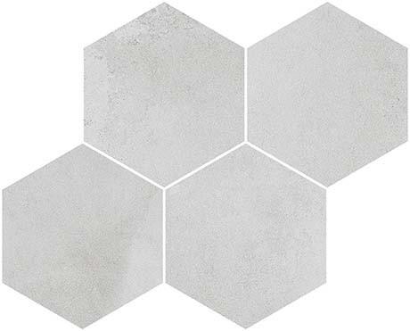 Derby Gris 17x12 Hexagon Mosaic (FZ5T3GW021)