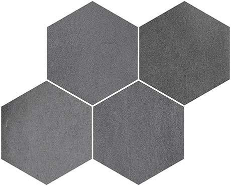 Derby Negro 17x12 Hexagon Mosaic (FZ5T3GW161)