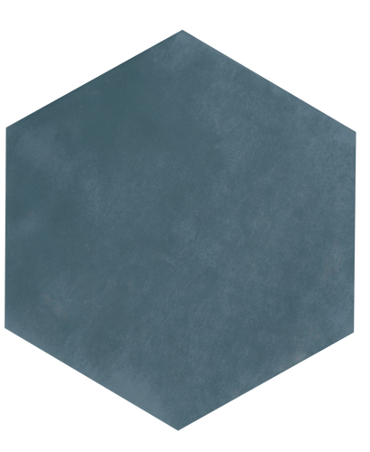 Maiolica Blue Steel 7x8 Hexagon Wall Tile (MAIW641-78H)