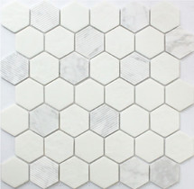 Carrara Hexagon 12x12 Mosaic (FWMGST1001)
