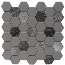 Gray Granite Hexagon 12x12 Mosaic (FWMGST2005)