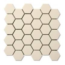 "Floor Bone 2"" Hexagon Mosaic (ADMB522)"