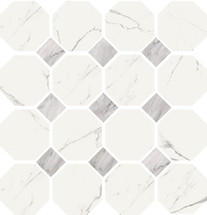 Statuario High Honed Finish Ottagonia Mosaic 11.8x11.8 (VSTATOTTM)