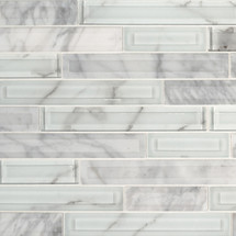 Blocki Blanco Interlocking Patterned Mosaic (SMOT-SGLSIL-BLOBLA8MM)