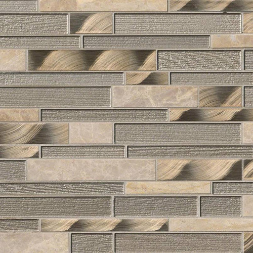 Champagne Toast Interlocking Patterned Mosaic (SMOT-SGLSMTIL-CHATST4MM)