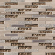 Diamante Brick Patterned Mosaic (SMOT-SGLSMT-DIA8MM)