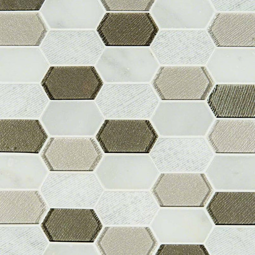 Inessa Blanco Picket Patterned Mosaic (SMOT-SGLSPK-INEBLA8MM)