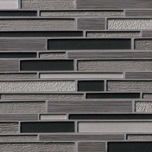 Metro Gris Blend Interlocking Patterned Mosaic (SMOT-SGLSIL-METGRI8MM)