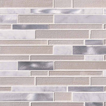 White Wave Interlocking Patterned Mosaic (SMOT-SGLSMTIL-WHTWA4MM)
