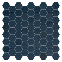 Hexa Deep Navy Hexagon Mixed Mosaic (HXDNMIXMOS)