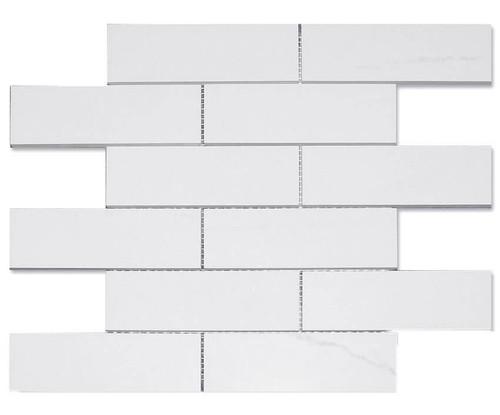 Dolomite Polished Brick 2X6 Mosaic (DOLOBRICK26P)