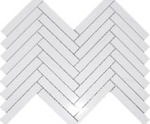 Dolomite Polished Herringbone 1X6 Mosaic (DOLOHERR16P)