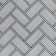 Ice Bevel Herringbone Mosaic (SMOT-GLS-ICEBEHB8MM)