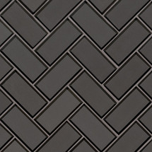 Metallic Gray Herringbone Mosaic (SMOT-GLS-MEGRBEHB8MM)