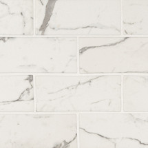 Statuario Celano 3x6 Mosaic (SMOT-GLS-STACEL36)