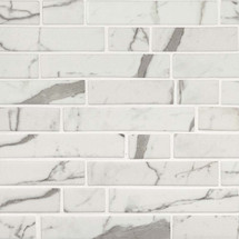 Statuario Celano Interlocking Mosaic (SMOT-GLSIL-STACEL6MM)