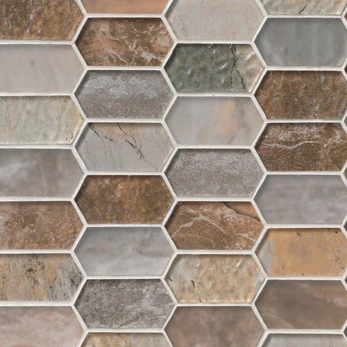 Taos Picket Patterned Mosaic (SMOT-GLSPK-TAOS8MM)