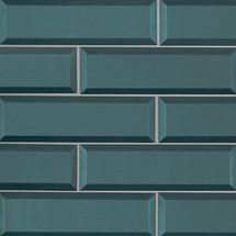 Verde Azul Beveled 2.5x8 (SMOT-GL-T-VERAZU2.5X8)