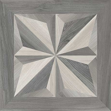 Mood Wood White/Grey Decor 1 24X24 (1100839)