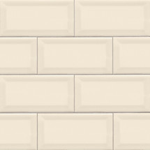 Domino Almond Glossy Beveled Subway Tile 3x6 (NALMGLO3X6BEV)
