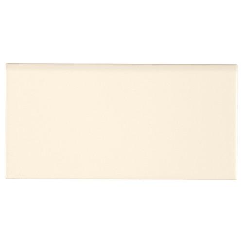 Domino Almond Glossy 3x6 Bullnose (NALMGLO3X6BN)