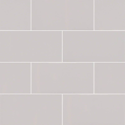 Domino Gray Glossy Subway Tile 3x6 (NGRAGLO3X6)