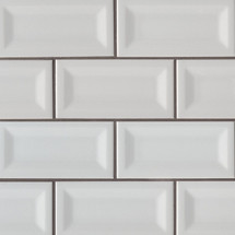 Domino Gray Glossy Inverted Beveled Subway Tile 3x6 (NGRAGLO3X6INVBEV)