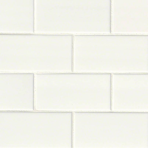 Domino White Subway Tile 3x6 (NWHIGLO3X6)