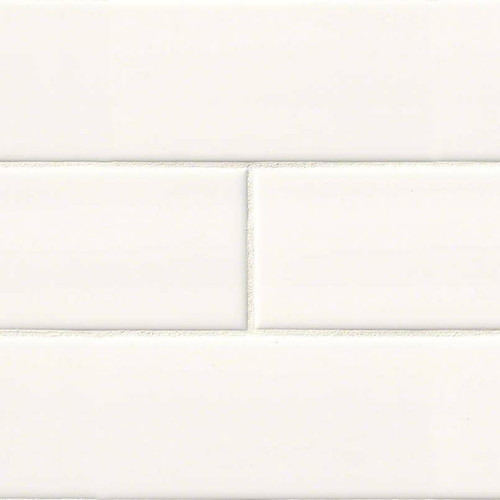 Domino White Glossy Subway Tile 4x16 (NWHIGLO4X16)