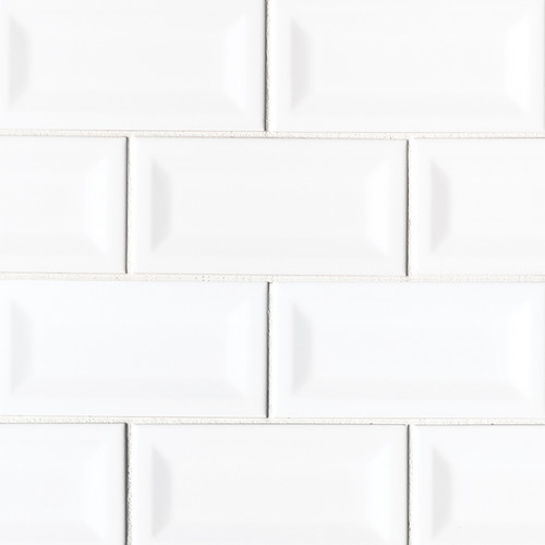 Domino White Glossy Inverted Beveled 3x6 (NWHIGLO3X6INVBEV)