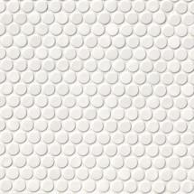 Domino White Glossy Penny Round Mosaic (NWHIPENROU)