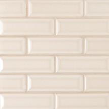Highland Park Antique White 2x6 Beveled Mosaic (SMOT-PT-AW-2X6B)