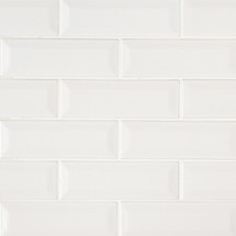 Highland Park Whisper White 2x6 Beveled Mosaic (SMOT-PT-WW-2X6B)