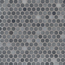 Penny Round Grigio Mix Glossy Mosaic (SMOT-PT-PENRD-GRIMIX)
