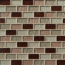 Ayres Brick Blend Mosaics 1x2 on 12x12 Sheet