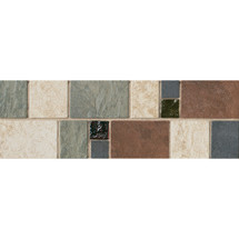 "Continental Slate - 4X12 Decorative with 1"" Glass Insert"